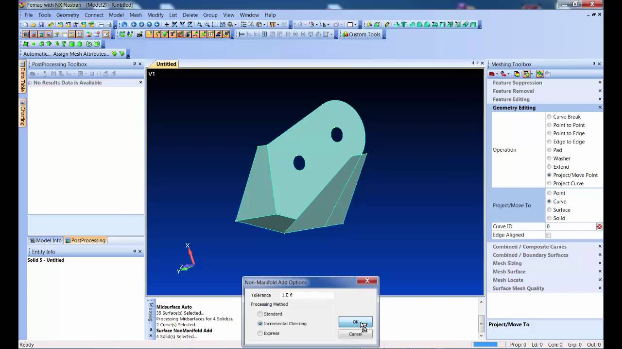 Femap 11.2 Mid Geometry Meshing