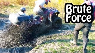 10. Kawasaki Brute Force 650 Mudding ATV 4x4