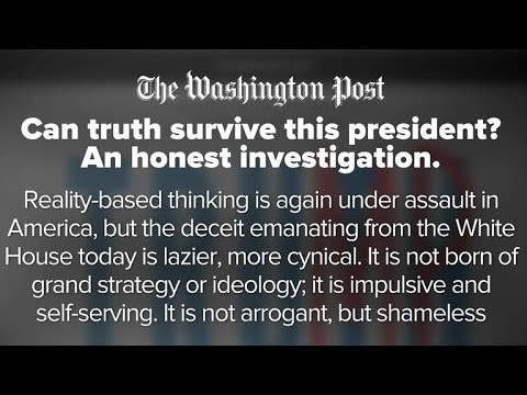 """""""Can truth survive this president?"""" Washington Post article on Trump and """"reality-based thinking"""""""