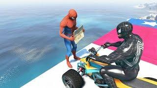 GTA 5 Water Ragdolls | SPIDERMAN vs VENOM Jumps/Fails #10 (Euphoria physics | Funny Moments)