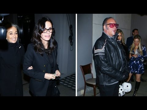 Courteney Cox Crashes Andrew Dice Clay's Interview