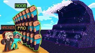Minecraft - OBSIDIAN TSUNAMI BASE CHALLENGE! (Build to Survive)