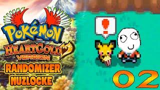 Pokémon Heart Gold Randomizer Nuzlocke: Ep2 -  Pipoca e Novos Amigos