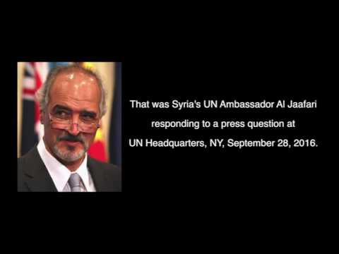 Syrian UN Ambassador Laughs About Hospital Bombings, 9/28/16