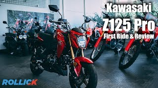 1. KAWASAKI Z125 PRO Test Ride Review [Top Speed]
