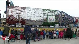 Consegna Tappi bottiglia eco-solidale Fondazione asilosanvito