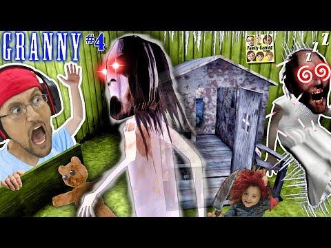 GRANNY's SECRET DAUGHTER? I Froze Granny!! INTENSE ESCAPE on 5th DAY! (FGTEEV #4 ENDING) (видео)