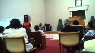 Gwen at Bishop Edwards church in Eutaw, Al.