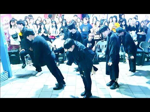 《BTS_#Fire》20190823_194950#KingdomS(킹덤즈)#LastSong 방탄소년단#불타오르네 😎to#BLACK 홍대버스킹 #SnowHorse