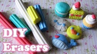 Make Your Own Erasers with Eraser Clay! (5+ different shapes) - YouTube