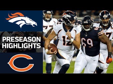 Broncos vs. Bears | NFL Preseason Week 1 Game Highlights - Thời lượng: 3:47.