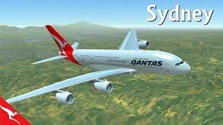 [HD] Flight Simulator 2017*** Australia, Sydney TakeOff, Quantas Airways (HD Quality)