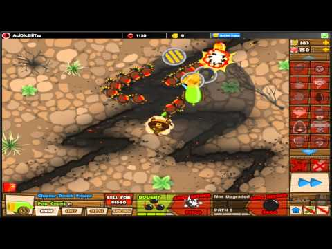 Bloons Tower Defense 5 - BTD5 - Wizard Lord (No Lives Lost) - NEW! Special Mission