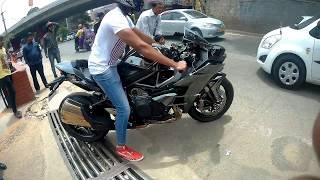 10. Kawasaki ninja H2 Supercharged 2017 ||Walk around || Exhaust
