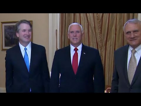 Supreme Court nominee Brett Kavanaugh makes the rounds on Capitol Hill