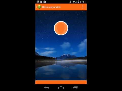 Video of ExpandablePanel AndroidLibrary