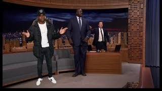 image of 'Mans Not Hot' Performed on Jimmy Fallon Show for Shaquille O'Neal Entrance
