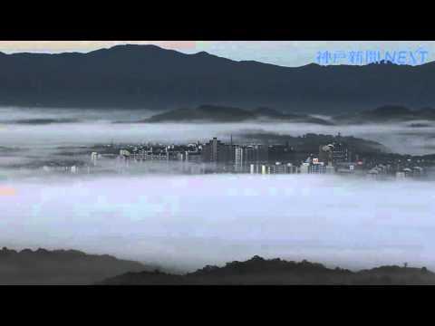 「天空の摩天楼」出現 三田市内で霧が発生