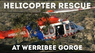 Injured Abseiler extracted by Helicopter at Werribee Gorge by Jackson Climbs