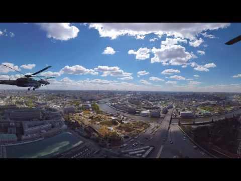 Генеральная репетиция Парада Победы 2017 - видео 360 градусов - DomaVideo.Ru
