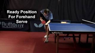 #11 Ready Position for Forehand Serve