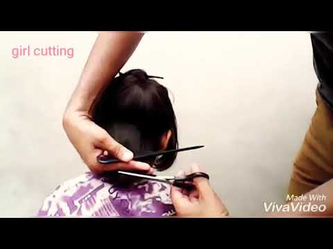 Short hair styles - Baby girl cutting//a.s barber//noory style cut