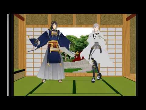 【刀剣乱舞MMD】三日月と鶴丸が織田組を全力で煽ってます