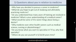 Mini Multiple Interview (MMI) guide for medicine entry Video