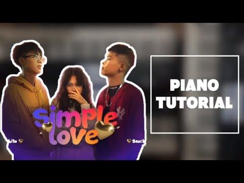SIMPLE LOVE - Obito x SeaChains    Hướng Dẫn Đệm Hát Piano Tutorial