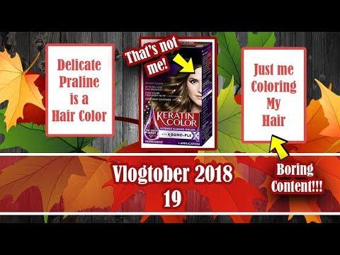 Vlogtober 2018  Episode 19   Delicate Praline is a Hair Color!