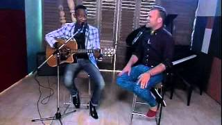 Daniel Bedingfield and Katlego Maboe perform