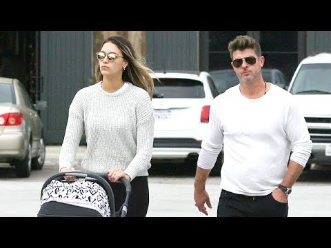 Robin Thicke Enjoying The Day With April And Daughter Mia In Malibu