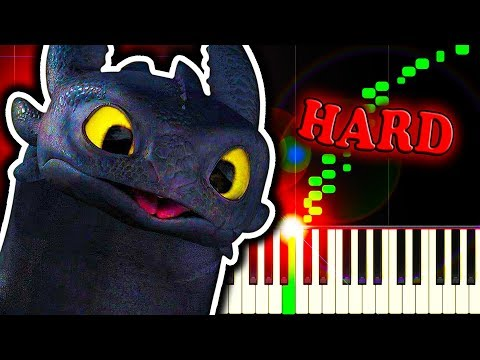 TEST DRIVE from HOW TO TRAIN YOUR DRAGON - Piano Tutorial
