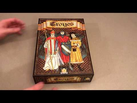 Troyes Board Game - Card Art And Components