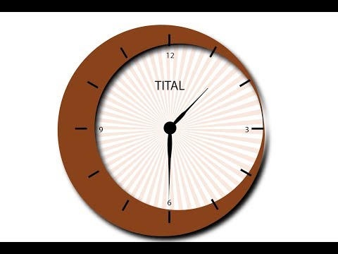 Adobe Illustrator Flat Clock Tutorial
