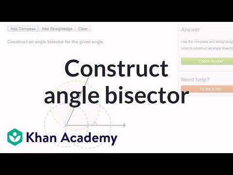 Geometric Constructions Angle Bisector Video Khan Academy