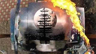 Video SPRAY PAINT ART -  Black'n' White Ship MP3, 3GP, MP4, WEBM, AVI, FLV Oktober 2018