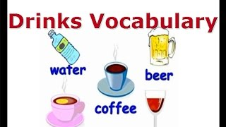 ESL drinks vocabulary, English for kids