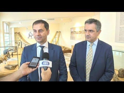 Ο υπουργός Τουρισμού Χ. Θεοχάρης και ο υφυπουργός Μ. Κόνσολας στα Γρεβενά