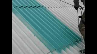 Покраска шифера (первый слой)