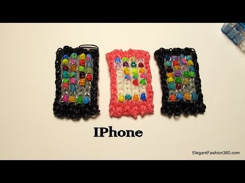 How to make iphone/ipad/Smart phone Charm on Rainbow Loom- only 1 loom