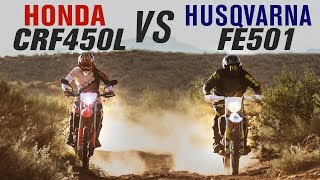 3. 2019 Honda CRF450L vs Husqvarna FE501