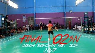 Video Final O2SN Cabang Badminton Putri Kab. KOTIM 2017 MP3, 3GP, MP4, WEBM, AVI, FLV Februari 2018