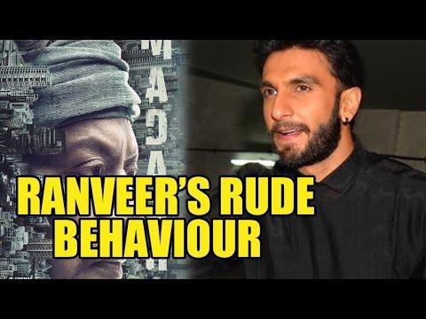 Ranveer Singh's Unseen Angry Behaviour At Madaari
