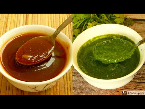 2 chutneys for chaat, Dahi bhalla, pani puri, sandwich | चाट चटनी रेसिपी | Green and Red chutney