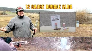 """In this video we look at the practicality of 12 gauge Double Slug ammunition. ** You can now support I'm with Chaos by visiting http://Patreon.com/ImwithChaos **-------------------------------------------------------------------------------------Check out ImwithChaos.com for more reviews and videos!I'm with Chaos is all about bringing you the most unbiased gun and gear reviews possible. I am a gun geek to the core and I love everything from machine guns to hunting shotguns to ammunition to accessories. Sharing as much knowledge as I can is the primary objective. If you aren't having fun while shooting, you aren't doing it right! Prepare to sit back and enjoy the show. ----------------------------------------------------------------------------------------Please Like, Share and Subscribe to get updates and see videos as soon as they come out! You can also find me on:Facebook.com/Chaos311ClarityInstagram: @Chaos311ClarityTwitter: @Chaos311ClarityMusic: """"Noise Attack"""" Kevin MacLeod (incompetech.com)Licensed under Creative Commons: By Attribution 3.0http://creativecommons.org/licenses/by/3.0/"""