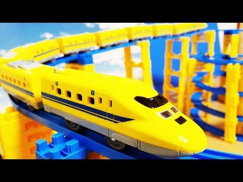 プラレール 新幹線 シンカリオン ドクターイエローに中間車両をたくさん …