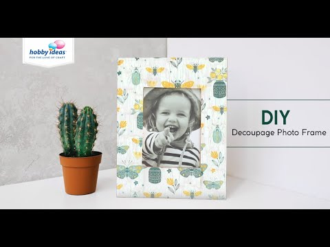 DIY Decoupage Photo Frame with Crackle Effect