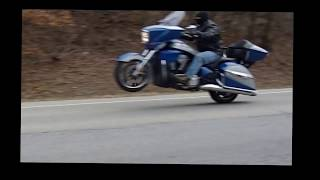 10. 2014 Victory Cross Country Tour wheelies