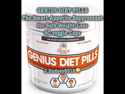 Weight loss pills - GENIUS DIET PILLS - The Smart Appetite Suppressant for Safe Weight Loss